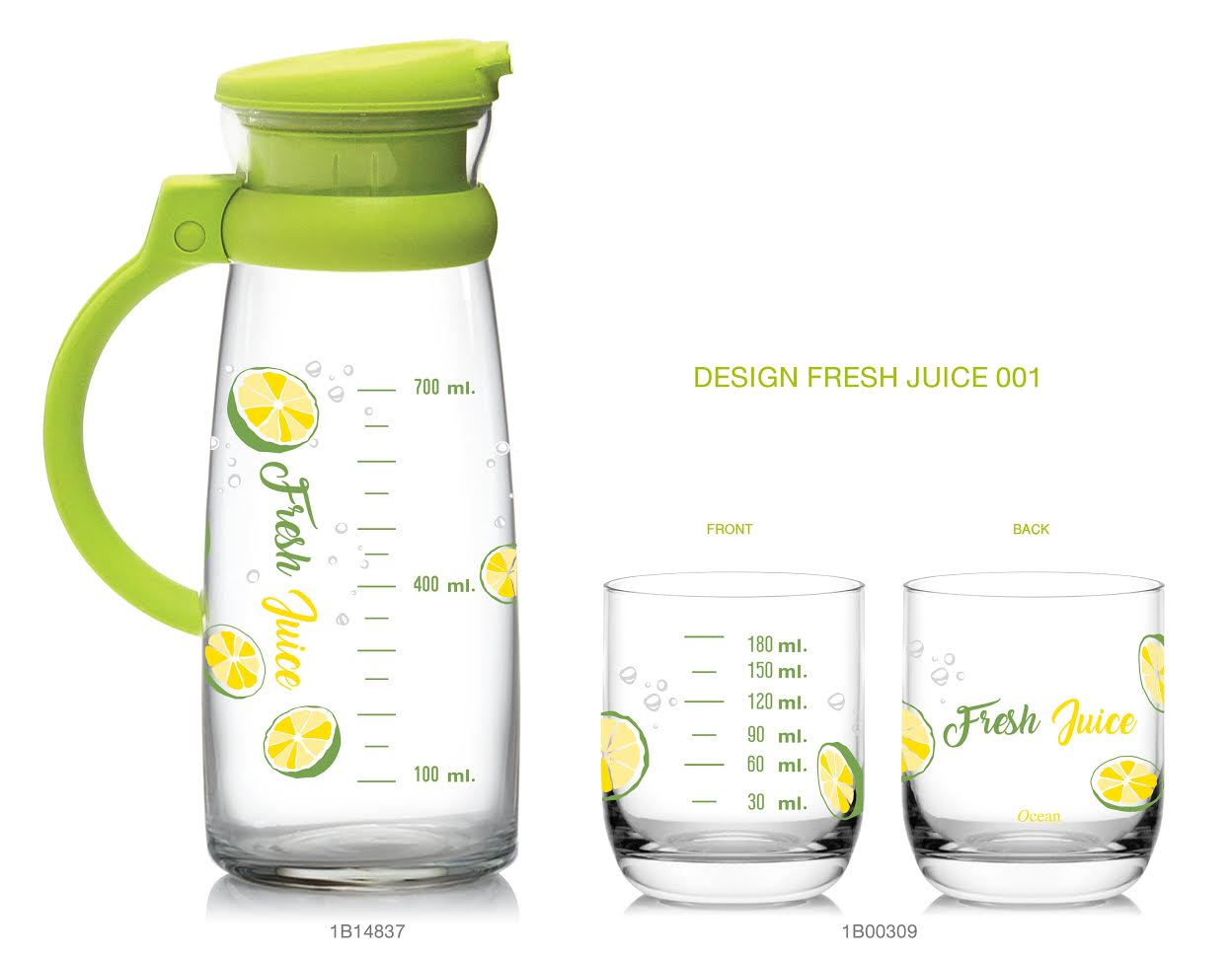 Maison set - Fruit - Measurement (Green)