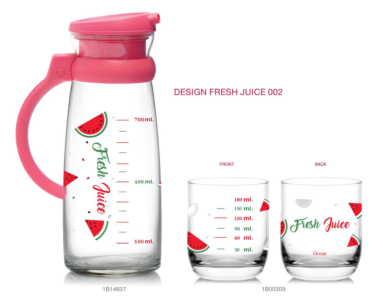 Maison set - Fruit - Measurement (Pink)